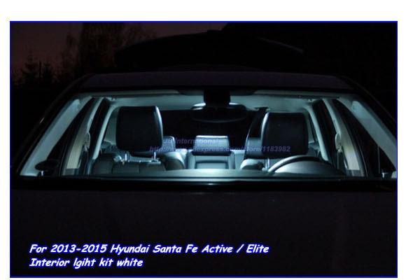 car interior light bar kit white for 2013 2015 hyundai santa fe active elite highlander led map. Black Bedroom Furniture Sets. Home Design Ideas