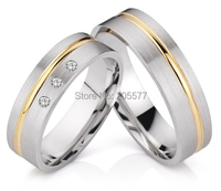 Доступное золото Покрытие инкрустация Титан нержавеющая сталь обручальные Обручальные кольца устанавливает его и ее для обувь для мужчин