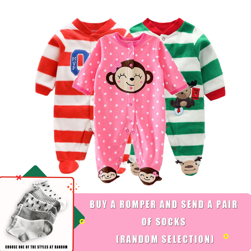 Newborn Christmas Dresses 0 3 Months.Lawadka Baby Rompers Polar Fleece Baby Boy Clothes Christmas Newborn Clothing Winter Baby 0 3 Months