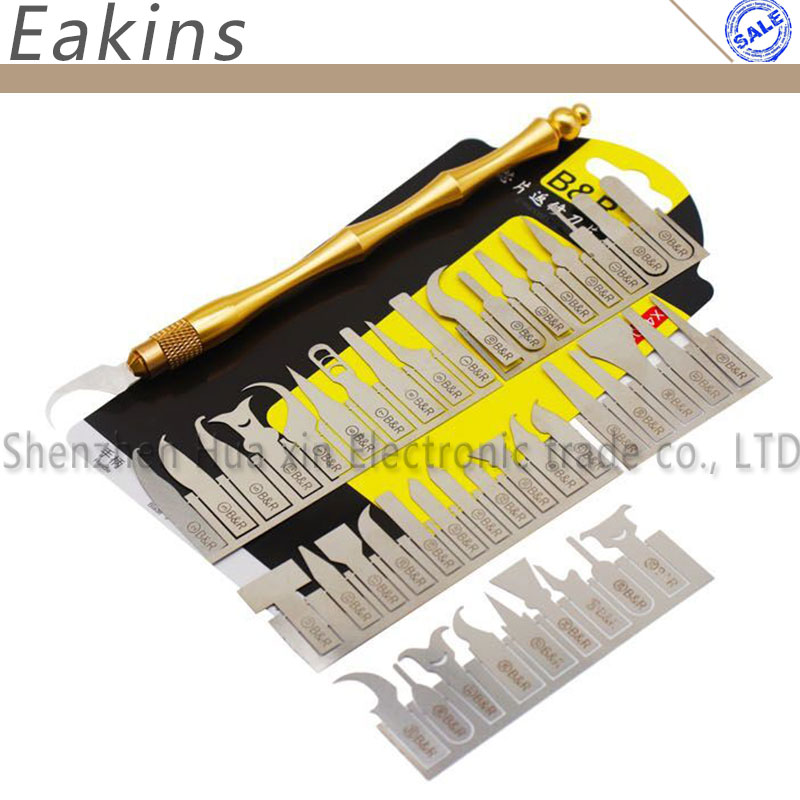 CPU Chip Repair Dismantling Tool Kit Chip Demolition Paddle Knife Remove Glue Blade Solder Pad Spatula