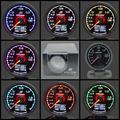 GRe ** y Gauge Turbo Boost Gauge GReddi 7 Colores de Luz LCD pantalla Con Medidor de Tensión de 62mm 2.5 Pulgadas Con Sensor de Carreras calibre