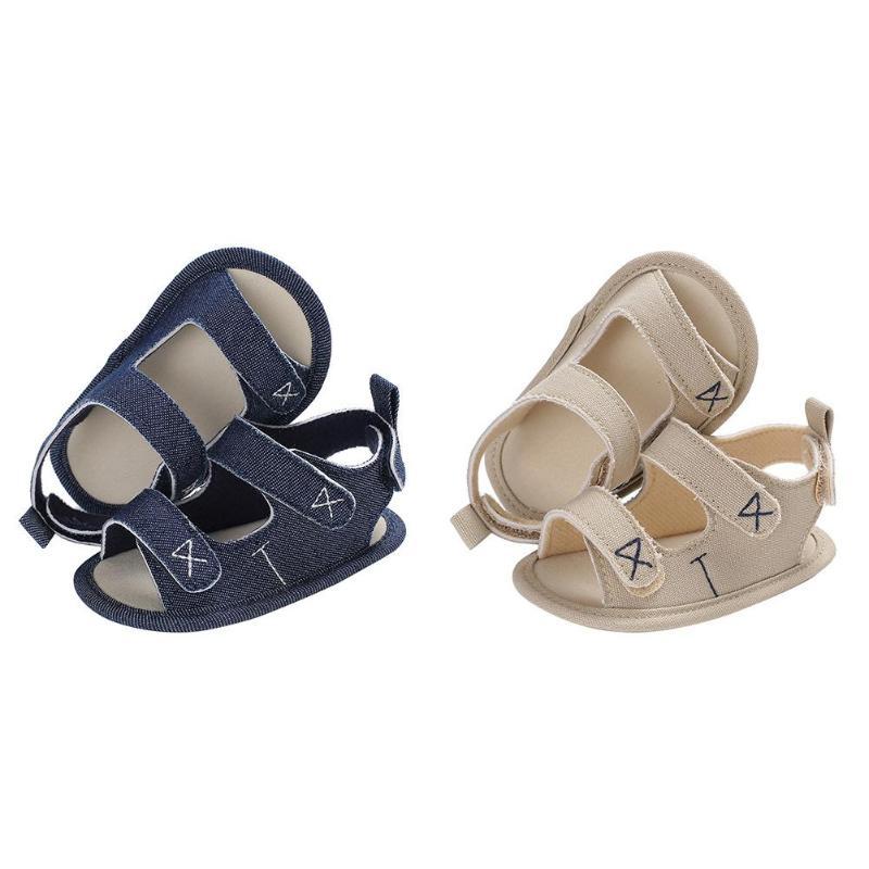 Newborn Baby Sandals Prewalker Soft Non-slip Sole Canvas Prewalkers Footwear Infant Toddler Boy Girl Summer Shoes