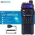 Walkie talkie 8 w baofeng uv5r uv-5r plus vs nktech grande 3800 mah batería transceptor vhf uhf dual radios vhf + altavoz mic
