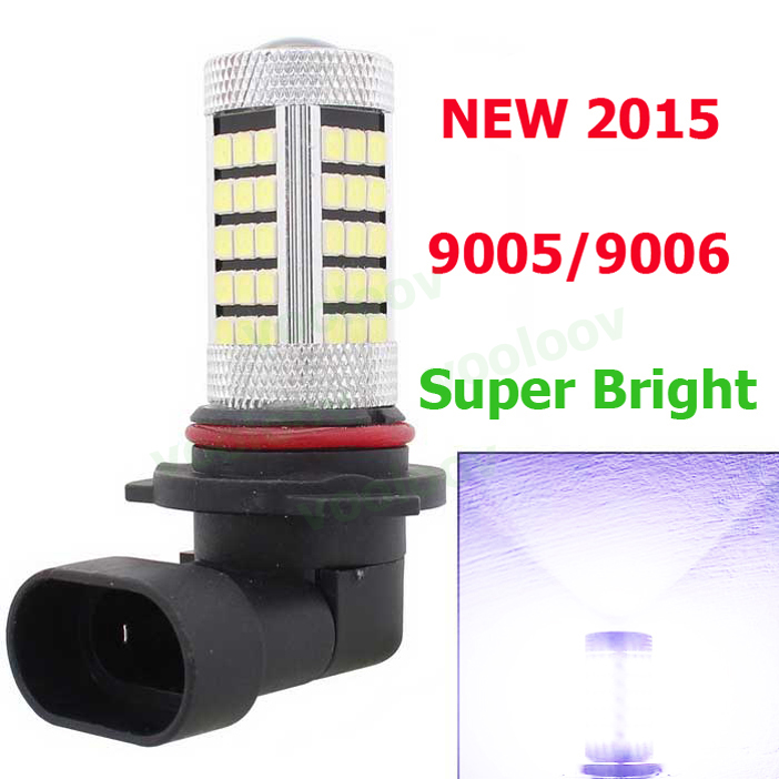 9005  FOG LIGHT car light source 2835 SMD 63 LED Fog lamp Light Daytime Running Lamp DRL Bulb H11/HB3/HB4/1156/1157/h8/h4/h7 wljh 2x canbus led 20w 1156 ba15s p21w s25 bulb 4014smd car lamp drl daytime running light for volkswagen vw t5 t6 transporter