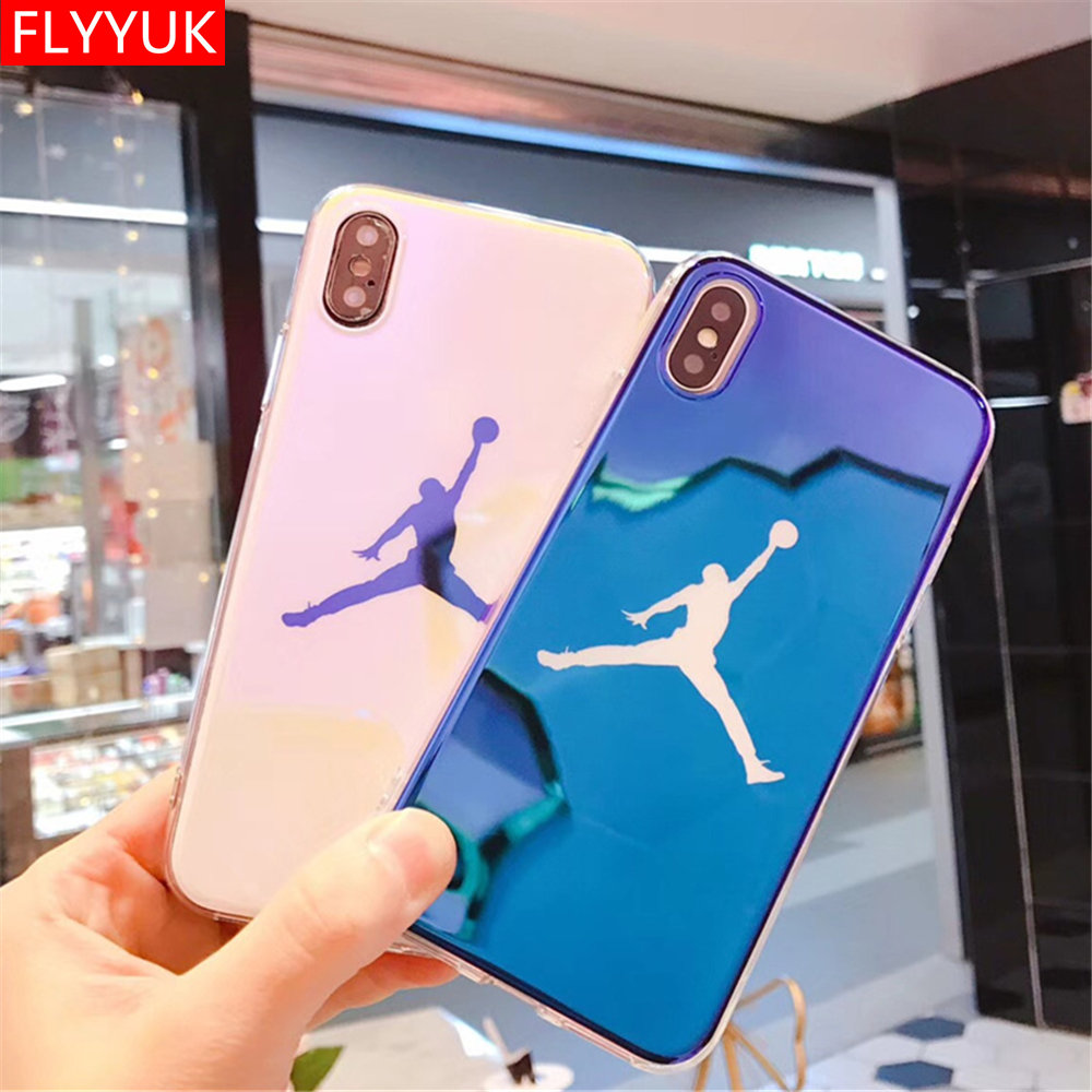 Fashion Michael Super <font><b>NBA</b></font> Jordan Soft Blu-ray Laser <font><b>Phone</b></font> <font><b>Case</b></font> for IPhone X 7 8 Plus <font><b>Cases</b></font> Slim Back Cover for IPhone 6 6s Plus