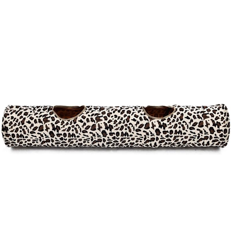 Leopard Cat Tunnel with Soft Ball Cat Rabbit Toys Play Tunnel - Produkty dla zwierząt domowych - Zdjęcie 6