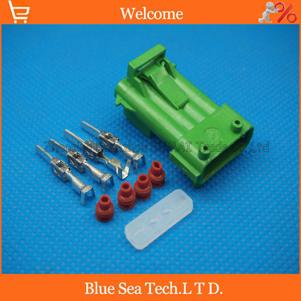 4 Pin Auto Male plug,car Oxygen sensor plug connector for Beverly, Chery, Citroen etc. Green color