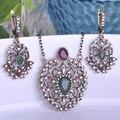Conjuntos de Jóias Colar de Pingente de Colar Vintage Vermelho Max Brincos Princesa Ganchos Acessórios Bijoux Bijuterias Turca Curto Feminino