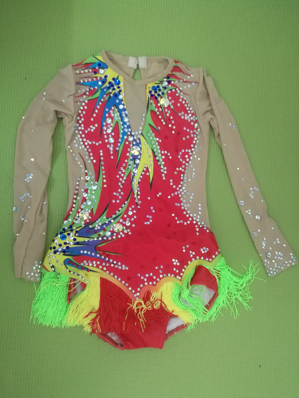 Professional Kids/Adult cheerleader uniform Boy/Girl Artistic gymnastics competition uniform leotard custom size head clip curly wavy women synthetic hair extension styling accessory oct 14