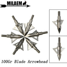 3/6/12pcs Archery Blade Arrowhead Target Arrow Point Tips 100Gr Broadheads Stainless Steel Hunting Shooting Accessories