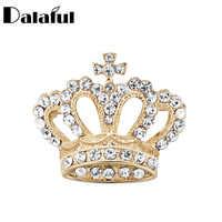 Dalaful mignon couronne broche strass cristal broche collier broche femmes bijoux tissu décoration broches cadeau pour femme Z038