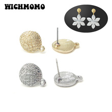 New Fashion 11*15mm 10pieces/bag Zinc Alloy Gold Round Earri