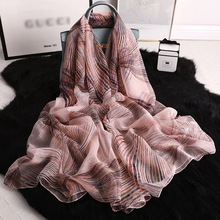 Hot sales 2019 Luxury Brand New Womens Scarf Fashion Lady Silk Scarves Print Shawls and Wraps Pashmina Foulard Bandana Hijab