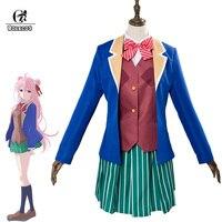 ROLECOS аниме Happy Sugar Life Косплей Костюм Satou Matsuzaka косплей костюм женская униформа Японский Школьный костюм полный комплект