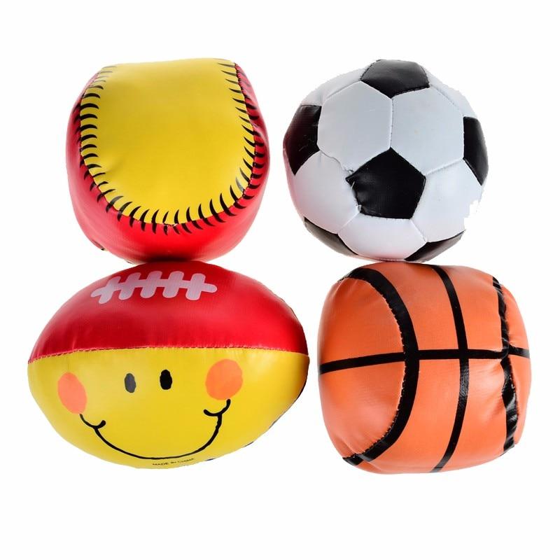 BOHS Baby Toy Balls Pehmeät Rugby-koripallopallopallot - 4kpl Pack