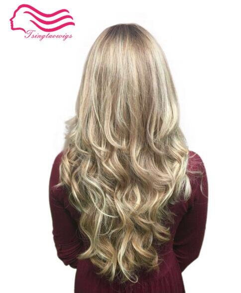 Tsingtaowigs, Custom made blonde vague, européenne vierge cheveux, casher perruques, juif perruques livraison gratuite