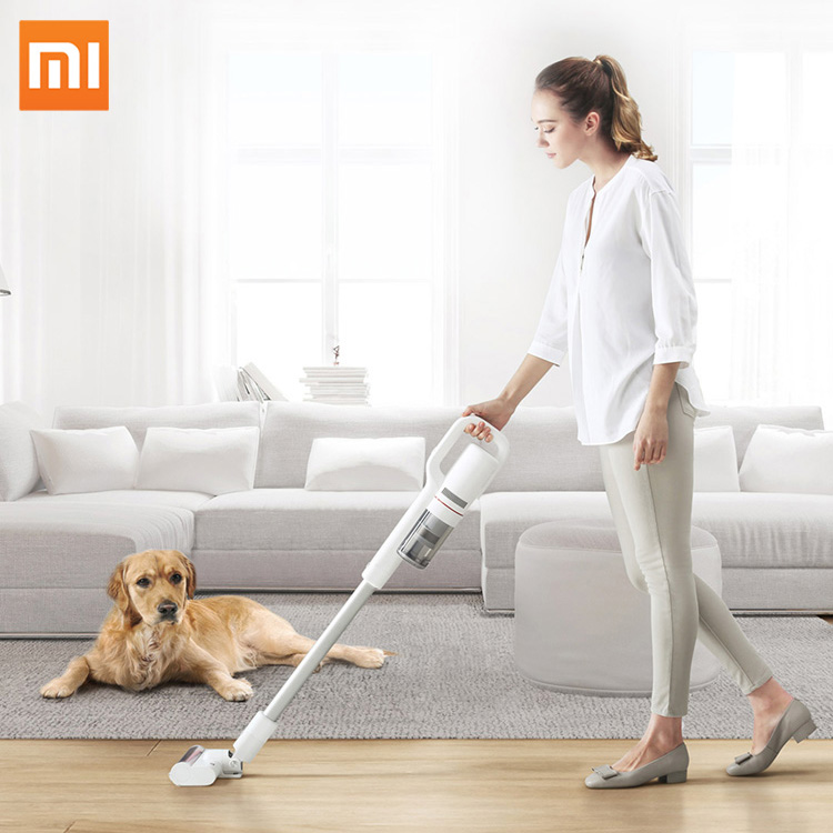 Original Xiaomi Roidmi Handheld Vacuum Cleaner Handheld Dust Collector household Low Noise Bluetooth LED Multifunctional Brush цена 2017