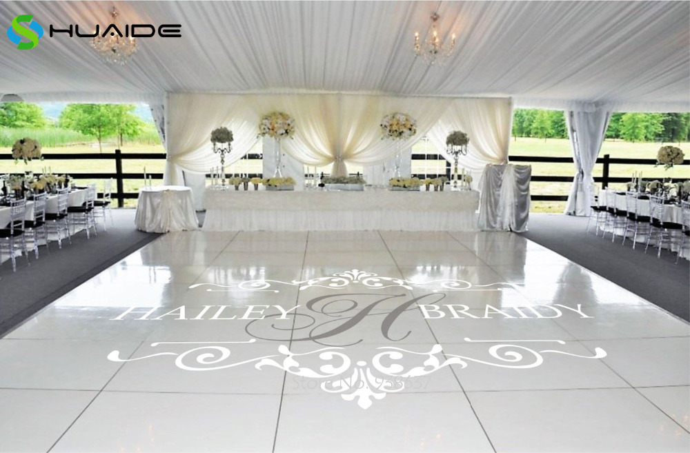 Wedding Floor Stickers Customize Bride Groom Names