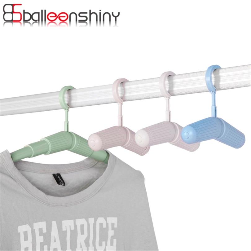 Retractable Portable Travel Hanger Racks For Clothes Coat Trouser Hanger  Non Slip Laundry Drying Home