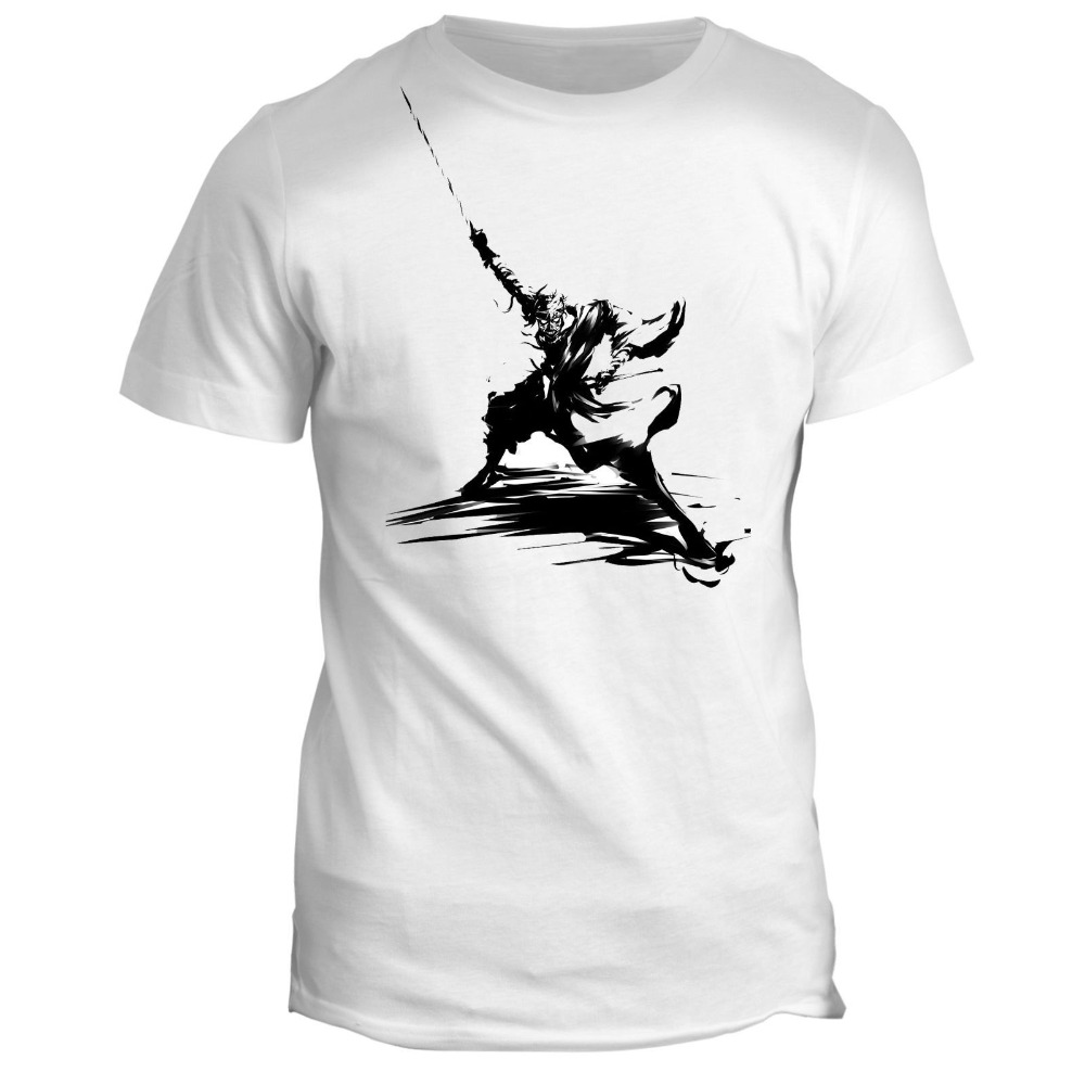 New 2018 Fashion 100% Cotton For Man Shirts Japanese Warrior Samurai Sun Harajuku Funny Men Tee Shirts