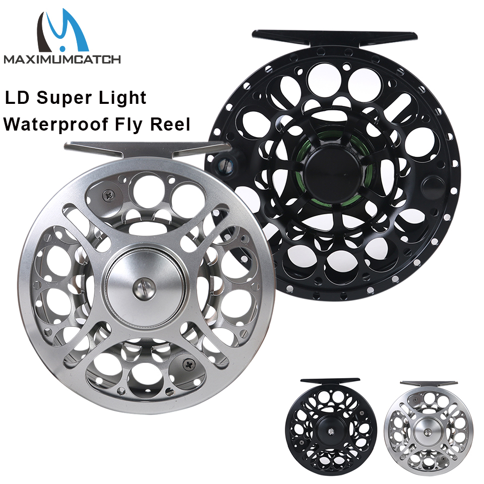 Maximumcatch 2 8WT Super Light Waterproof Fly Fishing Reel CNC Machined Cut Aluminum Large Arbor Fly