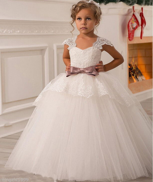 42ecea4aac248 2016 Wedding Party Formal Flower Girls Dress baby Pageant dresses Kids TuTu  Dress For Wedding First