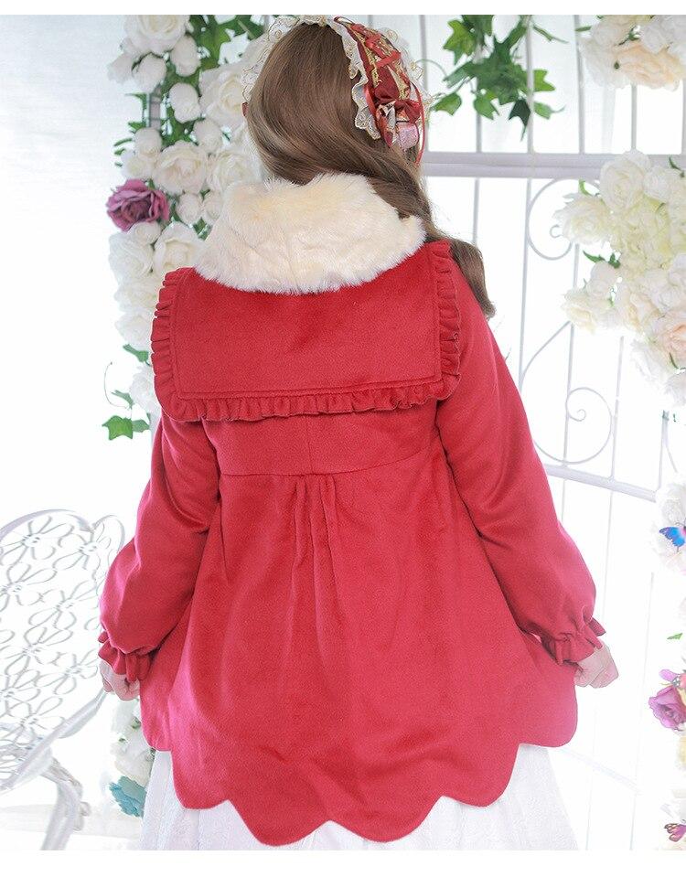 2018 Chauve De Mode Chaud Lolita picture Pour Turn Manteau Outwear out Manches Long Color Broderie souris Col Nouveau Style D'hiver Color C098 Picture Femmes Les TYCqwwU