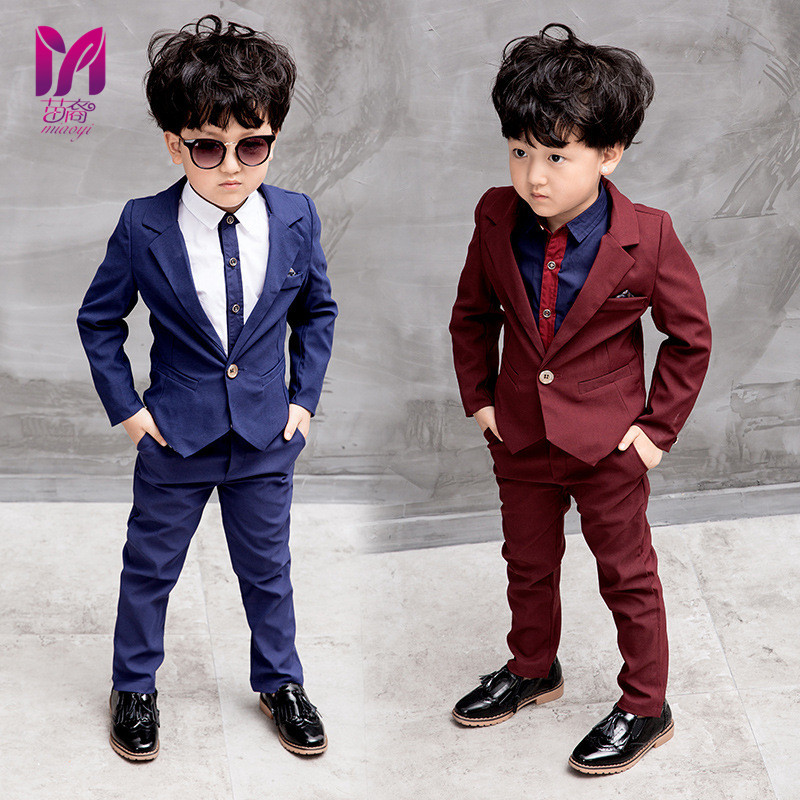 Boy Dress Fashion 2017 Cost-effective suit Wedding children 's  suit Kids boys suit casual outfit Boys Blazer blazers for boy 2016 new arrival fashion baby boys kids blazers boy suit for weddings prom formal wine red white dress wedding boy suits