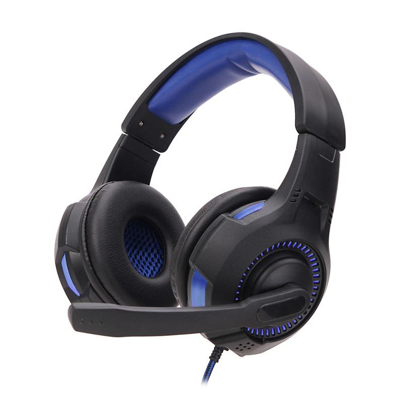 Luminous Game Earphone Gaming Headset NetBar Dedicated Headphone for Video Game Support Blue LED Light
