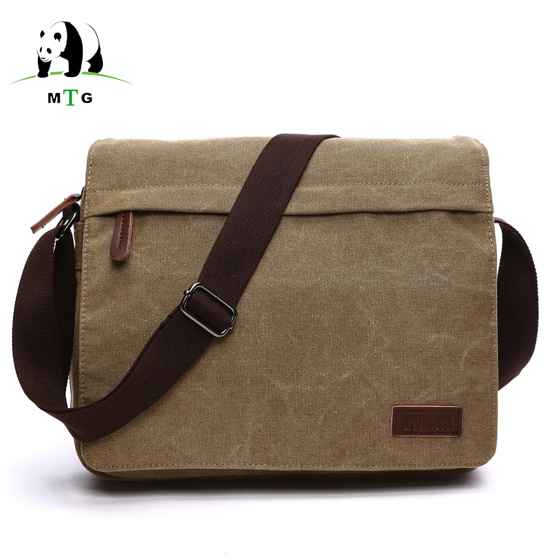 все цены на Brand Vintage Men Messenger Bags Canvas Shoulder Bag Fashion Men Business Crossbody Bag Printing Laptop Travel Handbag Bags Male