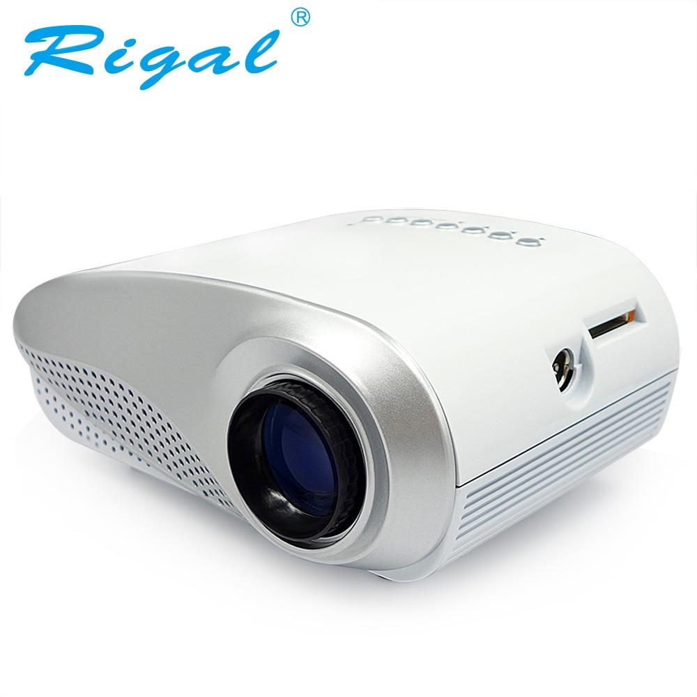 Проектор Rigal, RD802, классический светодиодный мини проектор, 200 люмен, видеопроектор для просмотра видео на домашнем кинотеатре, наилучший подарок, входы: HDMI USB VGA AV ATV