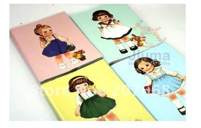 7pcs/Free shipping!!Wholesale,New Creative Cute Fancy Kids Pocketbook/Diary/Note Pad Memo/Paper Notebook/Note Book-4designs