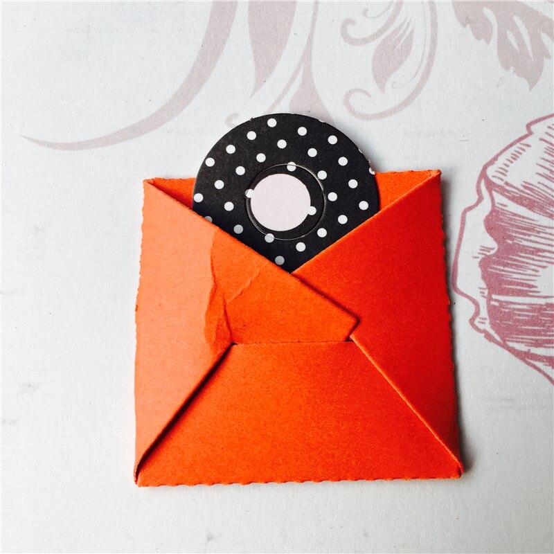 Folding Envelope Metal Cutting Dies for Scrapbooking DIY Photo Album Embossing Folder Paper Maker Stencils Decoration Crafts Die