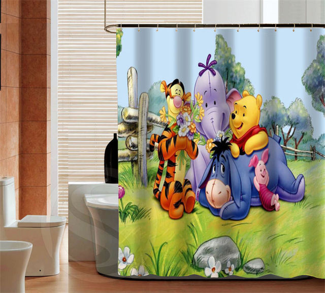 Classic Winnie the Pooh cartoon latest custom Shower Curtain Bathroom Best Decor Free Shipping MORE SIZE. Aliexpress com   Buy Classic Winnie the Pooh cartoon latest custom