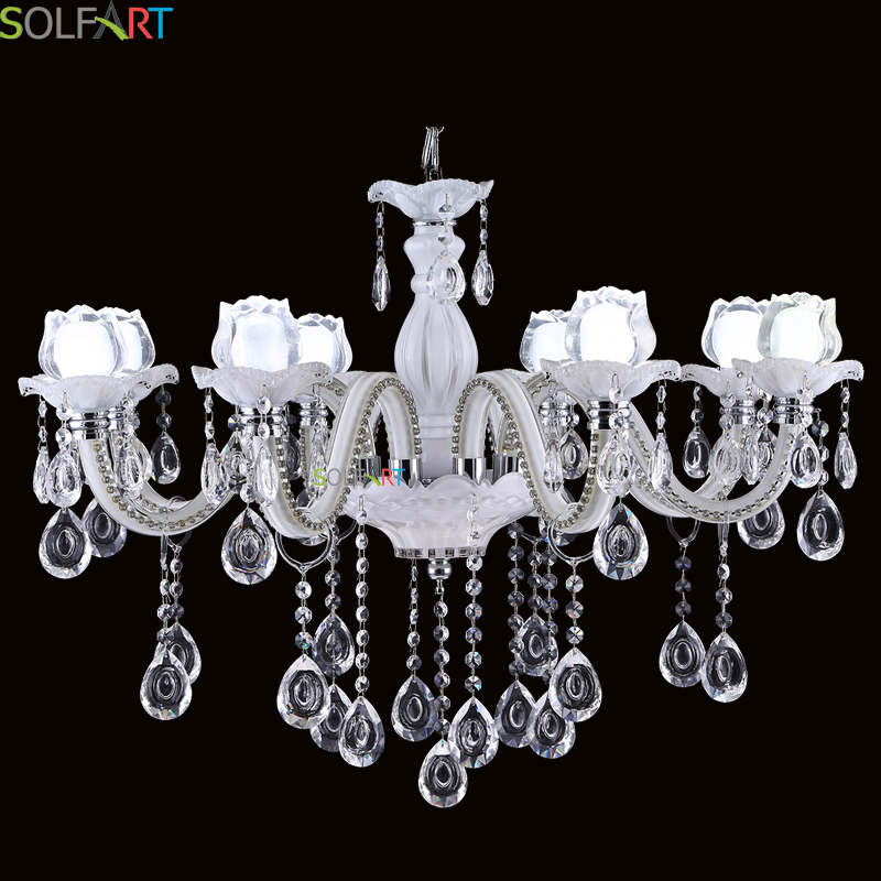 Magnificent Chandelier Online Shopping this beautiful chandelier is trimmed with empress crystaltm this magnificent chandelier is dressed with crystal crystal chandelier nothing is quit Solfart Chandeliers Modern Design White Flower Handmade Glass With Hanging K9 Crystal Led 6 Lights Chandeliers