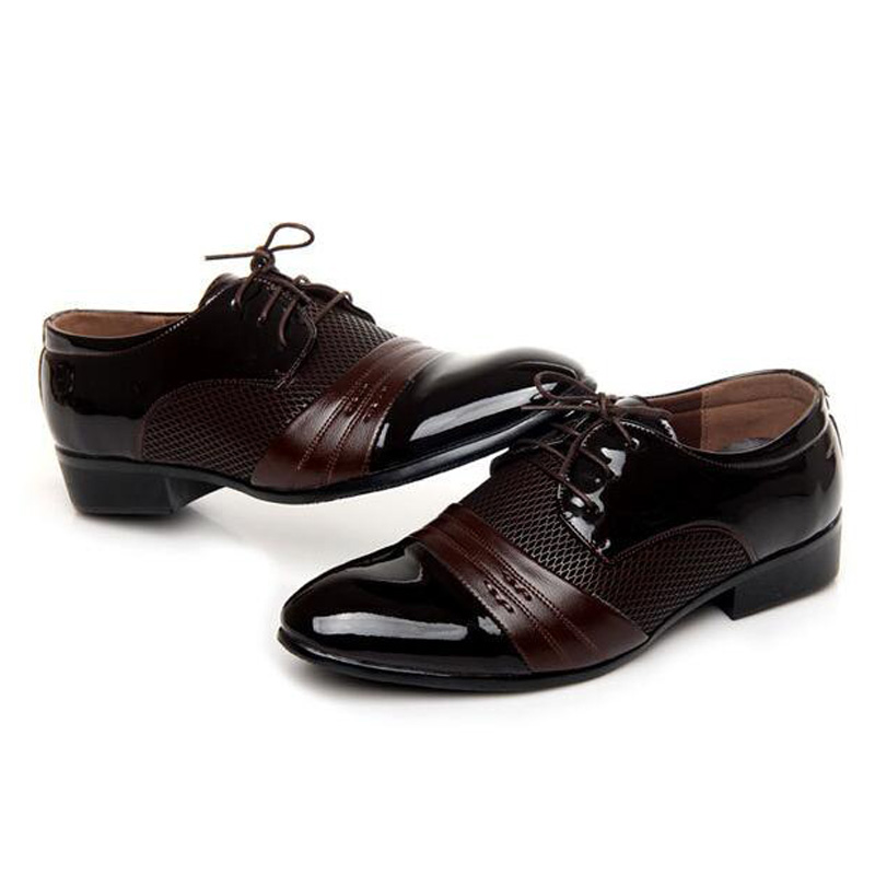 Stop118 Leather Men Oxfords
