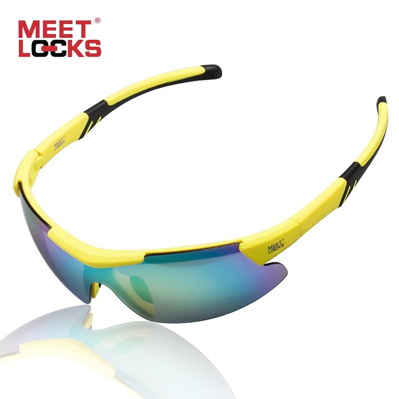 MEETLOCKS Sport-Sonnenbrille Radsportbrille für Laufräder und Angelbrillen Unbreakable PC Lens 100% UV-Schutz