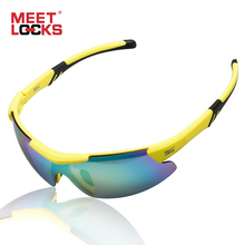 MEETLOCKS Sports Sunglasses Cycling Glasses for Running Bike and Fishing Eyewear Unbreakable PC Lens 100% UV Protection