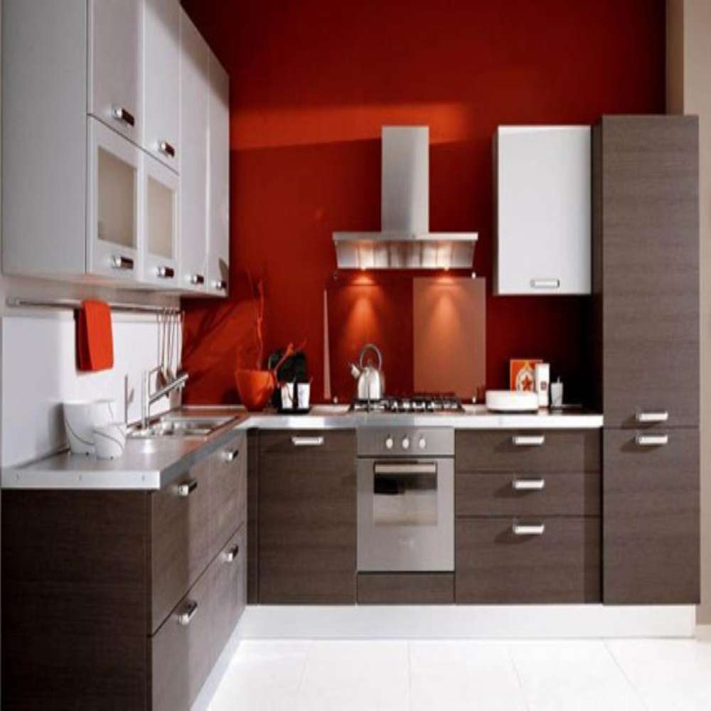 Elegant L Shaped Solid Wood Kitchen Cabinets Latest