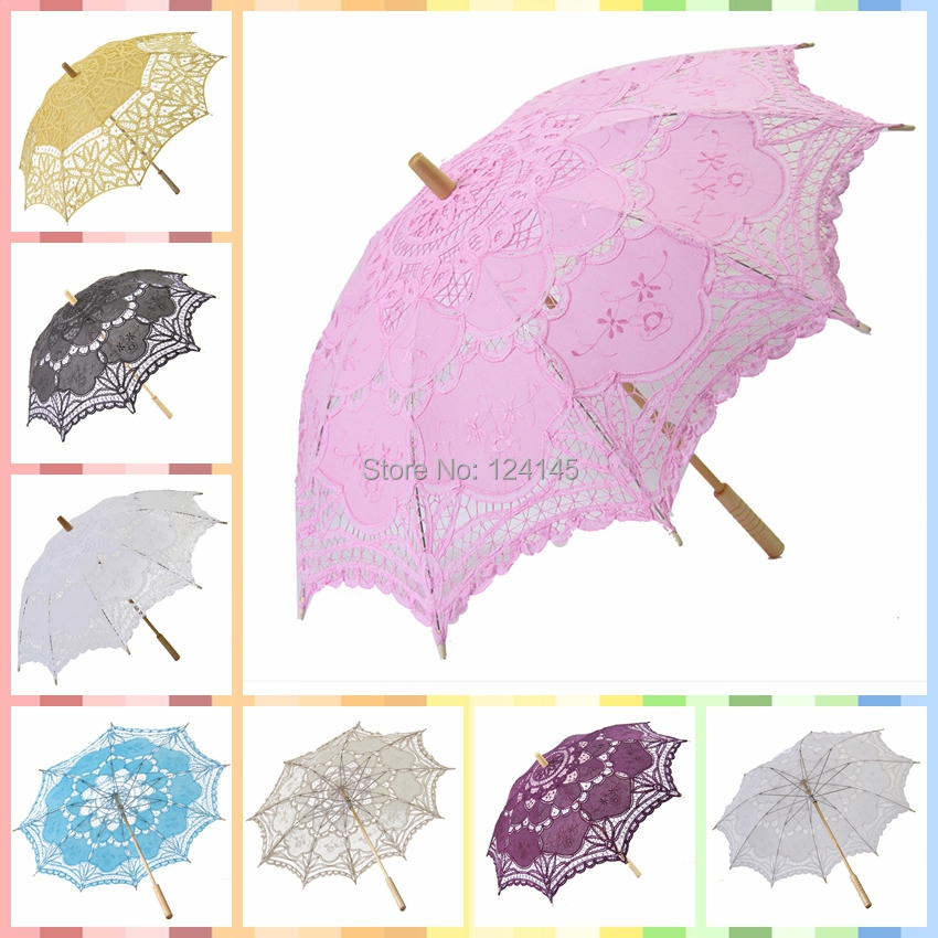 online shop vintage pink wedding lace parasol umbrellas bridal shower umbrella photo booth props30 inch76 cm aliexpress mobile