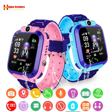 купить IP67 Waterproof Smart GPRS LBS Tracker Locator Finder  Kids Baby SOS Call Remote Monitor Camera Alarm Anti-lost Watch Wristwatch дешево