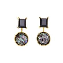 цена на Alloy Detachable Statement Earrings New Design Round Ear  Earrings Fashion Jewelry Women Gift Stud earrings