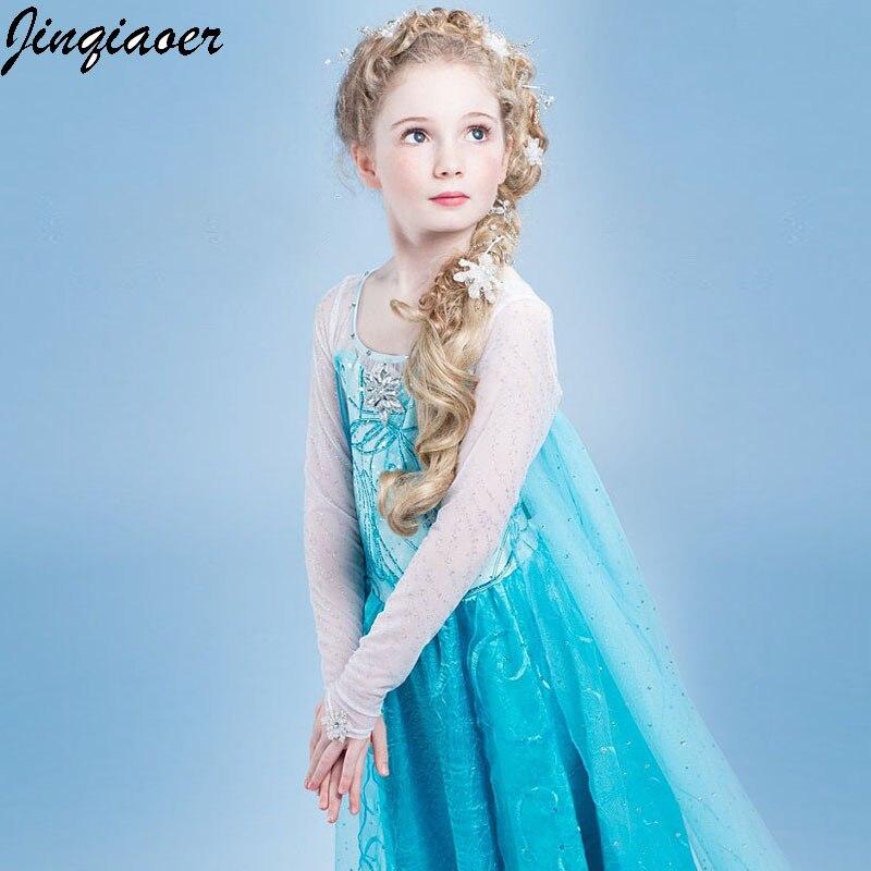 Disciplined Baby Girl Elsa Dress For Girls Clothing Wear Cosplay Elsacostume Halloween Christmas Party Princess Teens Fancy Vestidoscc1387/q Home