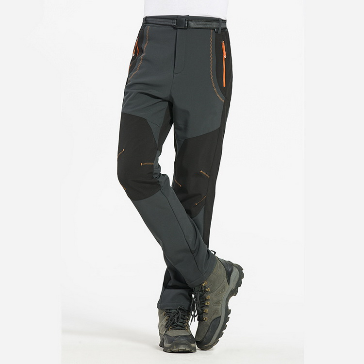 LOMAIYI 5XL Men's Warm Winter Pants Men Fleece Lining Cargo Pants Mens Waterproof Trousers Male Stretch Casual Work Pants AM110