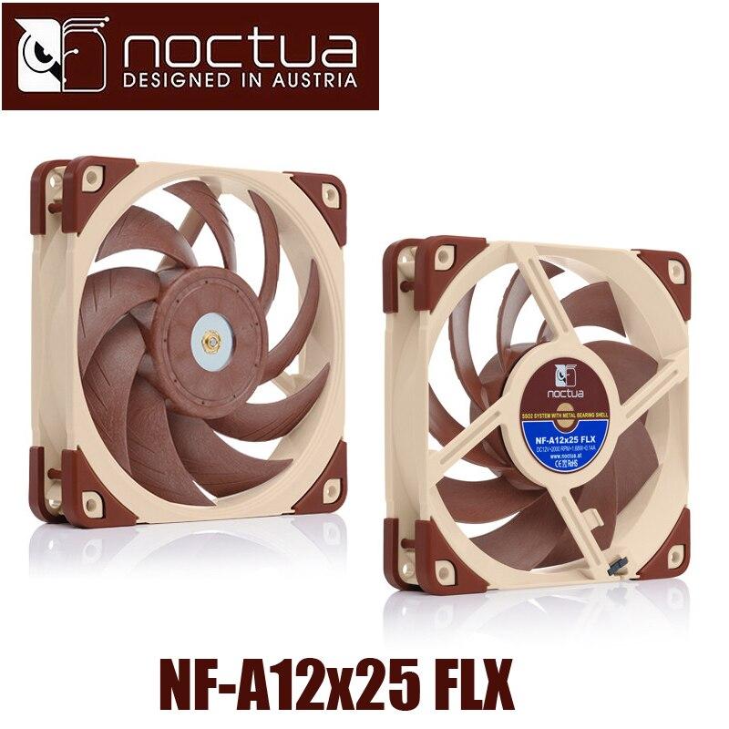 Noctua NF-A12x25 FLX 120x120x25mm 3 p pwm 2000 tr/min 12 cm 120mm PC ventilateur de tour d'ordinateur CPU refroidisseur de refroidissement radiateur ventilateur