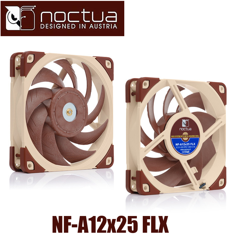 Noctua NF-A12x25 FLX 120x120x25mm 3p pwm 2000 RPM 12cm 120mm PC computer case Fan CPU Cooling Cooler heat sink radiator Fan 1u server computer copper radiator cooler cooling heatsink for intel lga 2011 active cooling