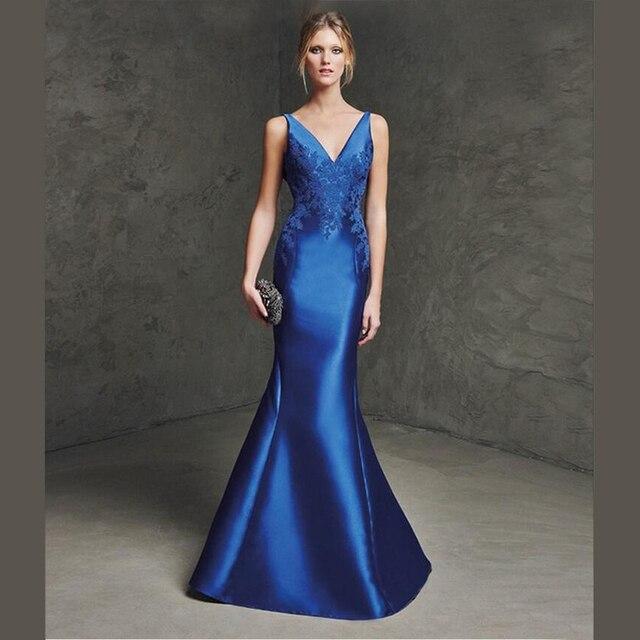 60678c57b Vestidos de noche de satin - Vestidos a la moda en España 2019.