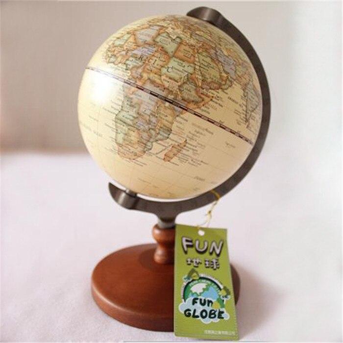 Antique imitation édition Anglaise globe carte du monde décoration globe terrestre En Bois base Géographie globe terrestre tellurion D4