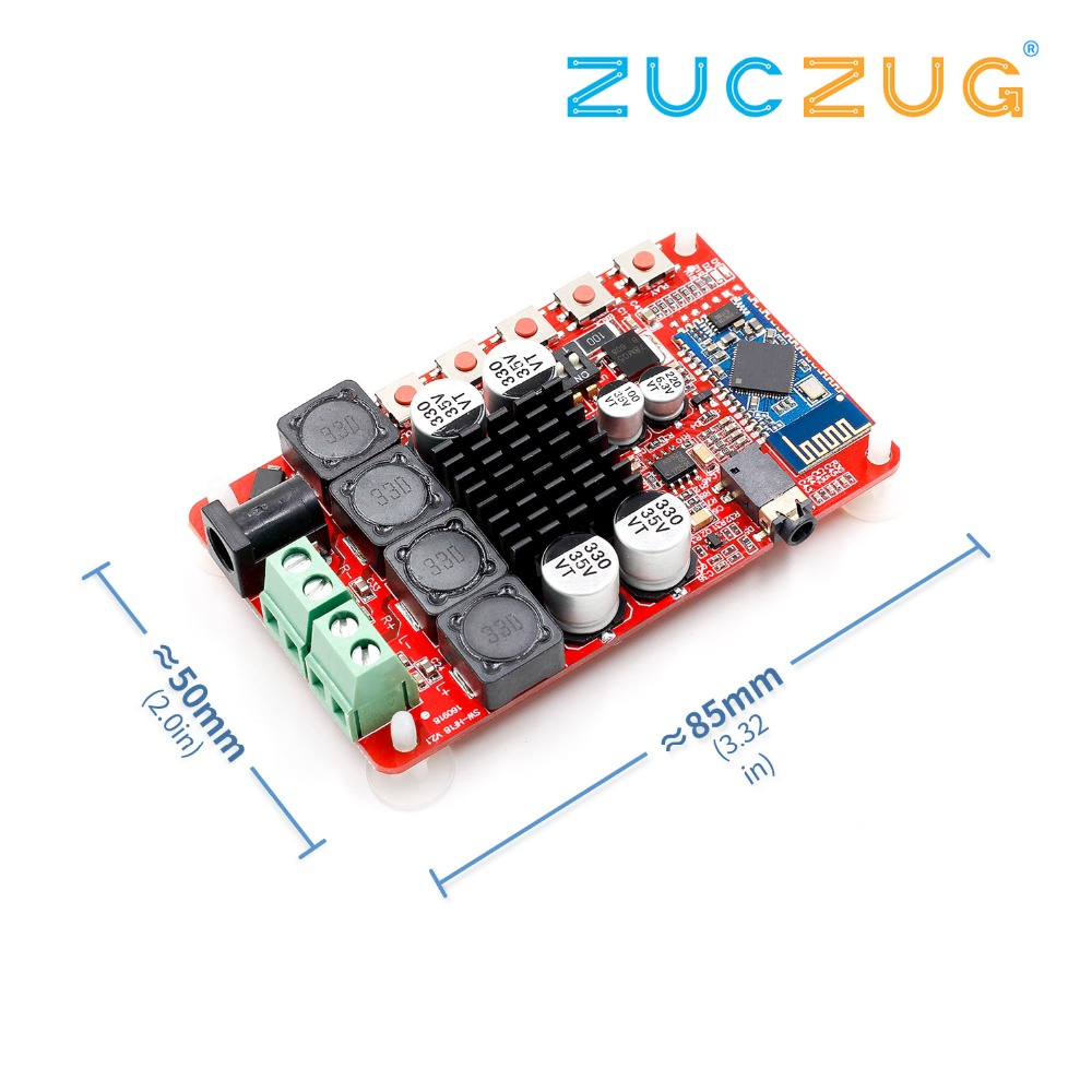 50W+50W TDA7492 CSR8635 Wireless Bluetooth 4 0 Audio Receiver Amplifier  Board NE5532 Preamp