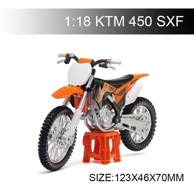 Maisto 1:18 KTM 450 SXF รถจักรยานยนต์รถจักรยานยนต์อัลลอยมอเตอร์จักรยาน Miniature Race ของเล่นสำหรับของขวัญคอลเลกชัน